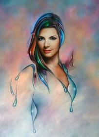 """CAROLINA"" 60 x 80 cms, pastel and acrylic on paper."