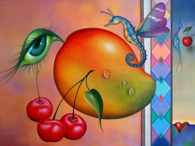 """""""FAIRYTALE"""" 30 x 40 inches, acrylic on canvas."""