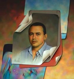 """""""JULIO CESAR"""" 70 x 85 cms, acrylic on canvas."""